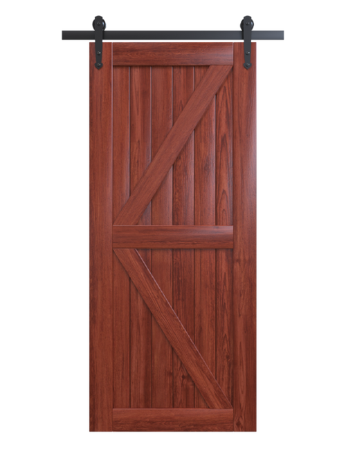 sonoma red tones stained wood stable style barn door
