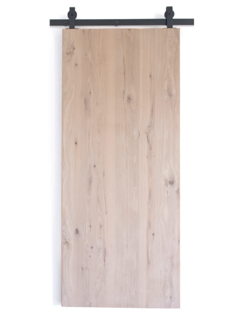 oak slab wood barn door