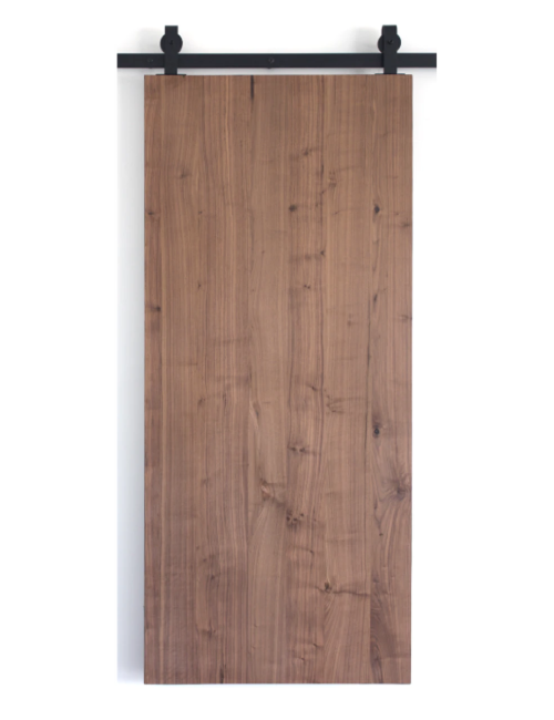 walnut slab wood barn door