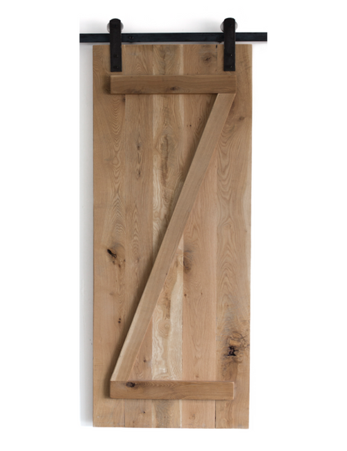 oak slab wood z style barn door