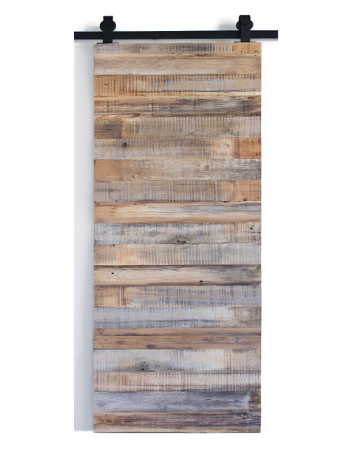 reclaimed wood single barn door