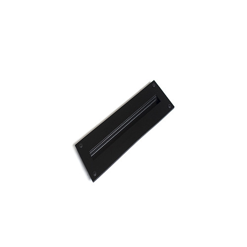 black recessed barn door handle