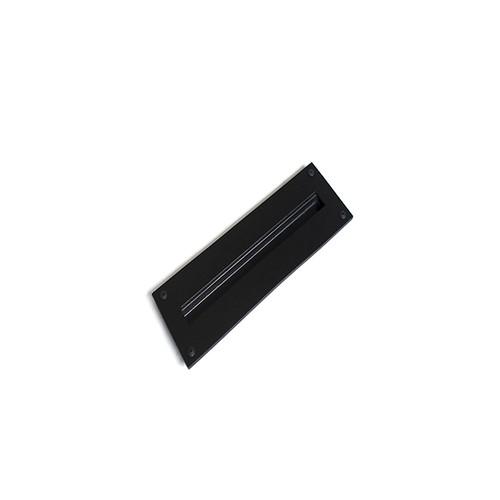 black recessed barn door handle