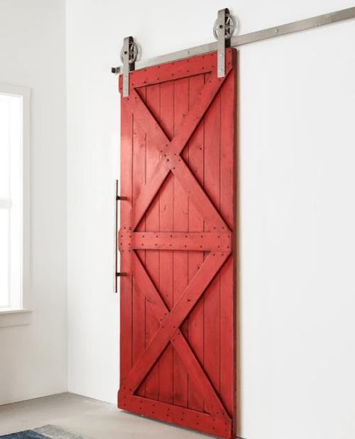 Newport Sliding Barn Door - Lifestyle Bathroom