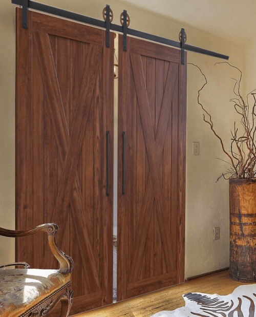 Wood Savannah Double Barn Door - lifestyle