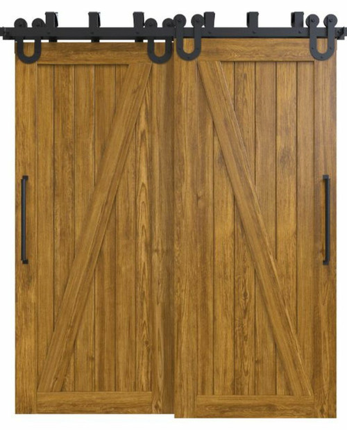 wood medium stain classic z double barn door