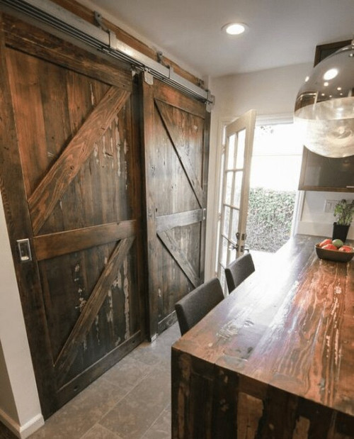 The Stowe Bypass Sliding Barn Door - Lifestyle Kitchen
