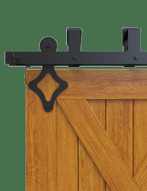 ranch diamond style strap bypass barn door hardware