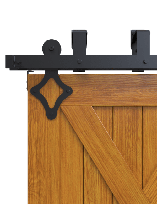 ranch diamond style strap bypass barn door hardware