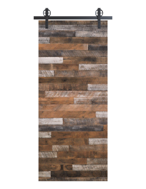 gray hamilton reclaimed wood horizontal barn door