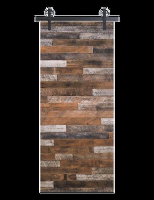 gray hamilton reclaimed wood horizontal barn door