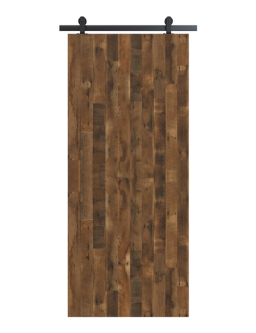 reclaimed wood brown vertical barn door