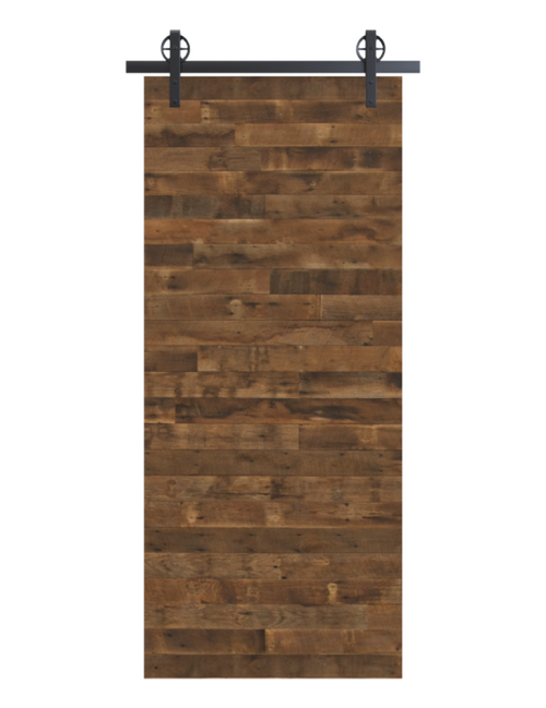 reclaimed wood brown horizontal barn door
