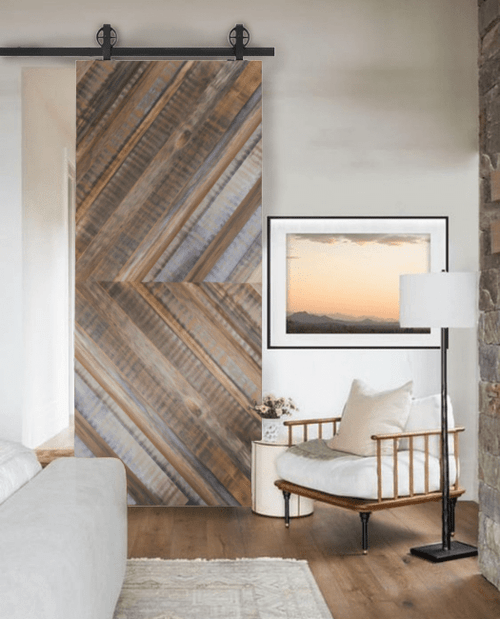 gray henry reclaimed wood lifestyle - living room