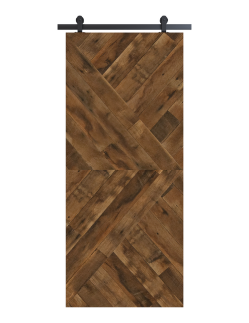 reclaimed wood brown arrow barn door
