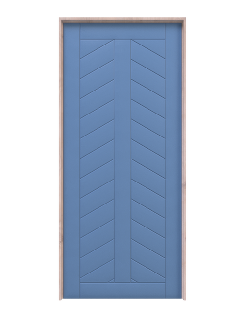 chevron pattern interior barn door