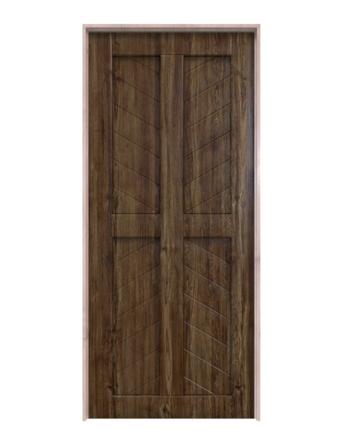 dark stained wood 4 panel chevron barn door
