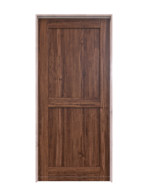 dark stain wood 2 panel barn door