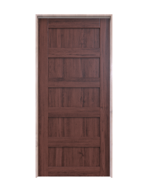 wood 5 panel interior barn door