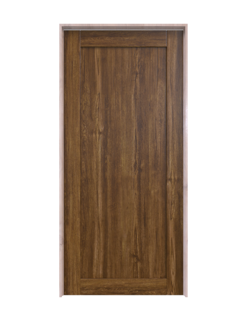 stained wood full pane barn door