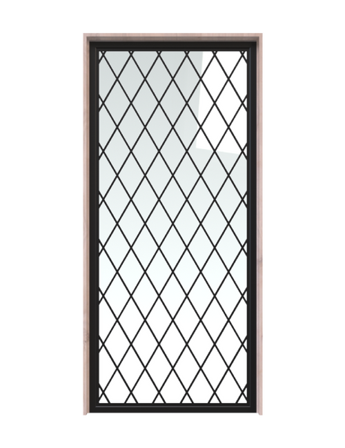 metal diamond pane french barn door