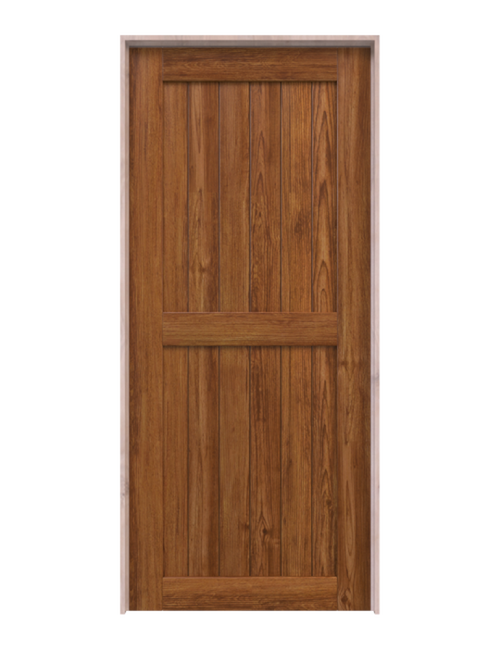 naples stained wood 2 panel barn door
