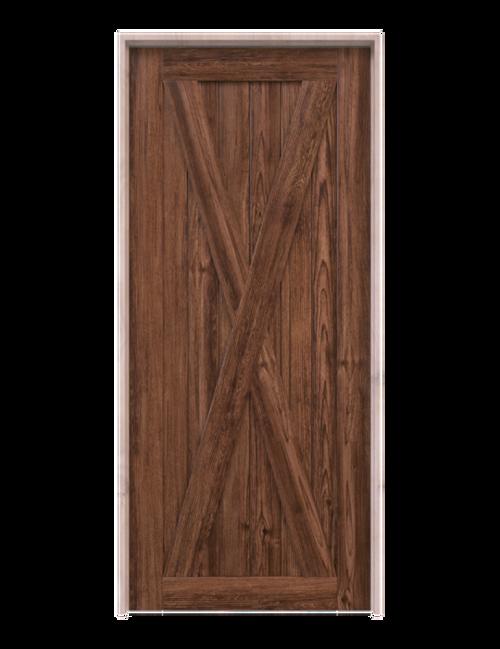 savannah savannah dark stained wood classic full x panel barn door