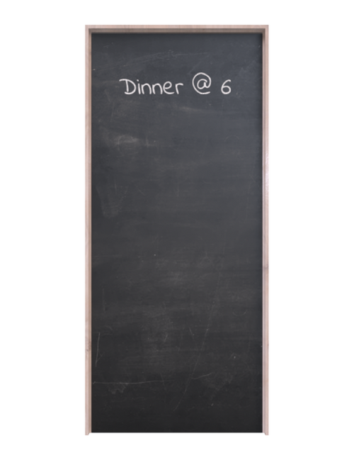 full chalkboard finished interior barn door