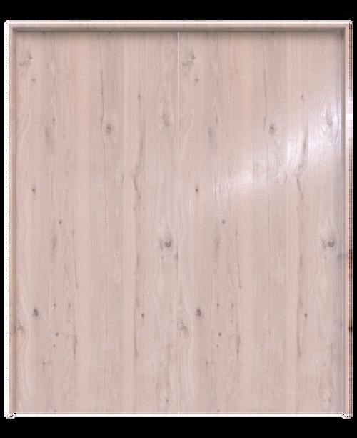 oak slab wood double barn door