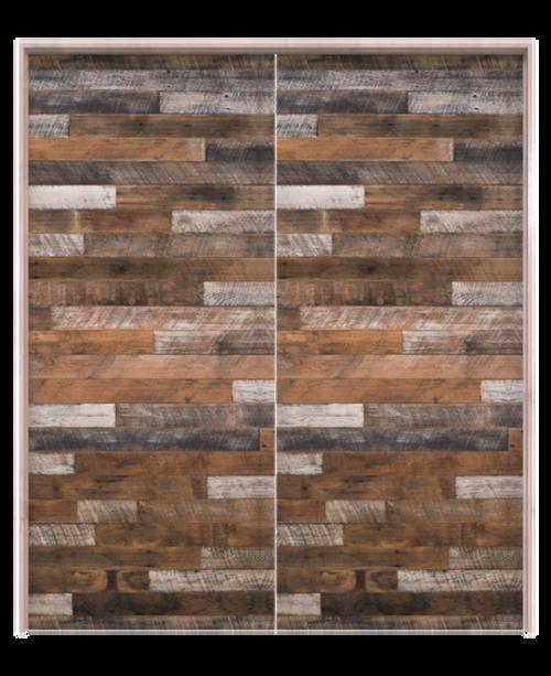 reclaimed wood horizontal interior double barn door