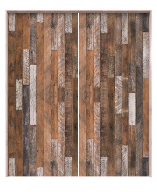 jefferson reclaimed wood vertical double barn door