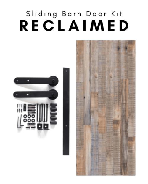 diy kit reclaimed wood barn door with hardware