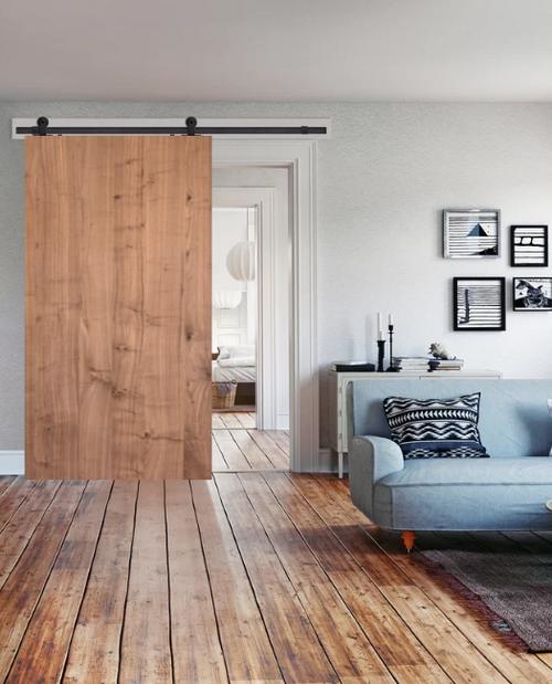Fully Custom Wood Slab Sliding Barn Door