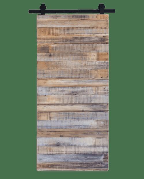 Fully Custom Gray Reclaimed Wood Sliding Barn Door