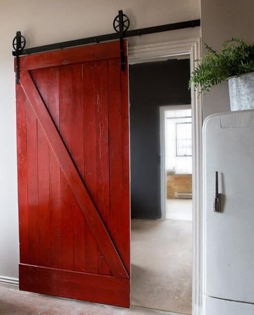 Fully Custom Wooden Sliding Barn Door