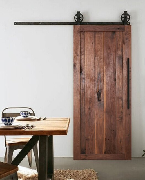 Fully Custom Walnut Sliding Barn Door
