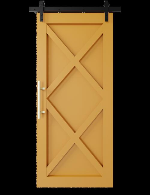 modern 2 x panel barn door