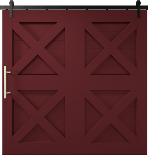 4x super wide barn door SW Sundried Tomato