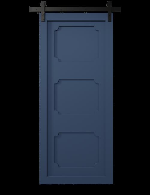 decorative 3 panel shaker barn door - sw9176