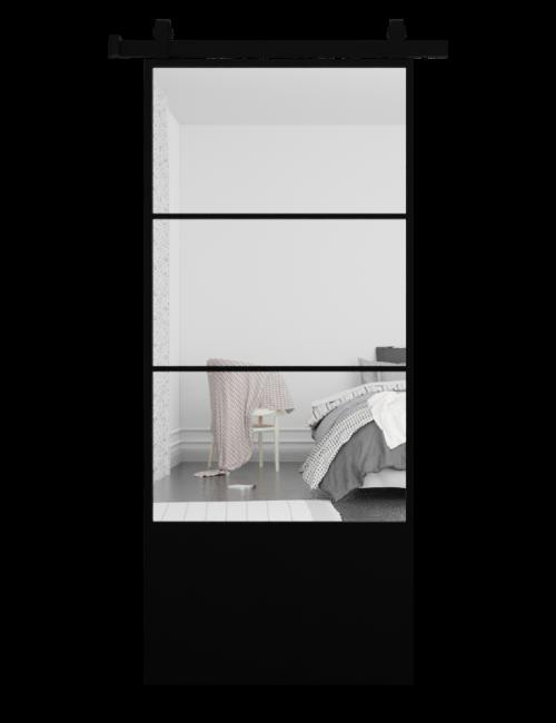 The Brielle 3 Panel Mirror Sliding Barn Door