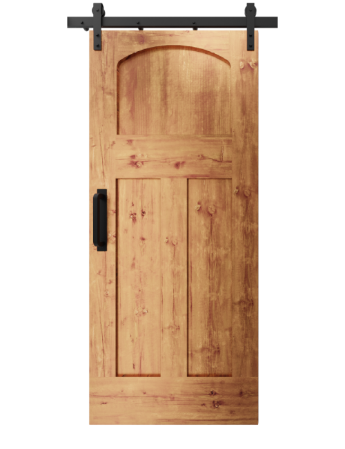 The Kennedy Arched 3 Panel Shaker Custom Sliding Barn Door