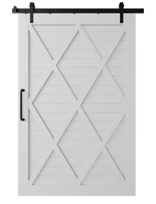 The Camila Four X Pattern Custom Size Sliding Barn Door