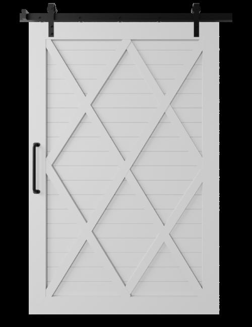 The Camila Four X Pattern Custom Size Sliding Barn Door