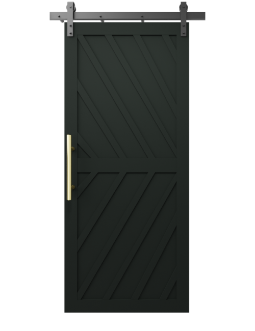 The Nora Diagonal Wood Pattern Custom Sliding Barn Door