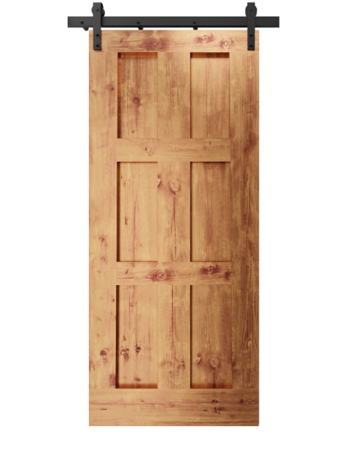 The Rylee Six Panel Shaker Custom Sliding Barn Door