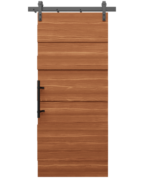 The Layla Alder Multi Level Plank Custom Sliding Barn Door