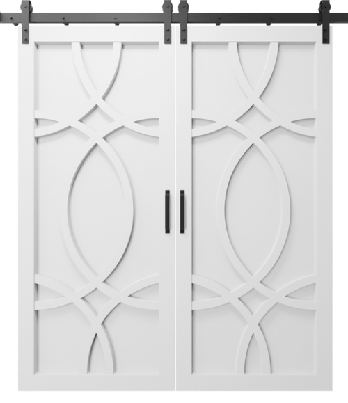The Alice Wood Swirl Custom Double Sliding Barn Door