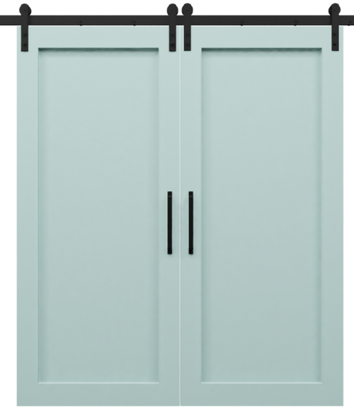 Full Panel Shaker Double Barn Door