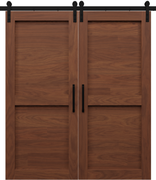 2 Panel Shaker Double Barn Door