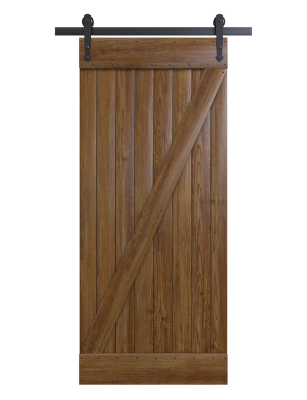 stained wood classic z barn door